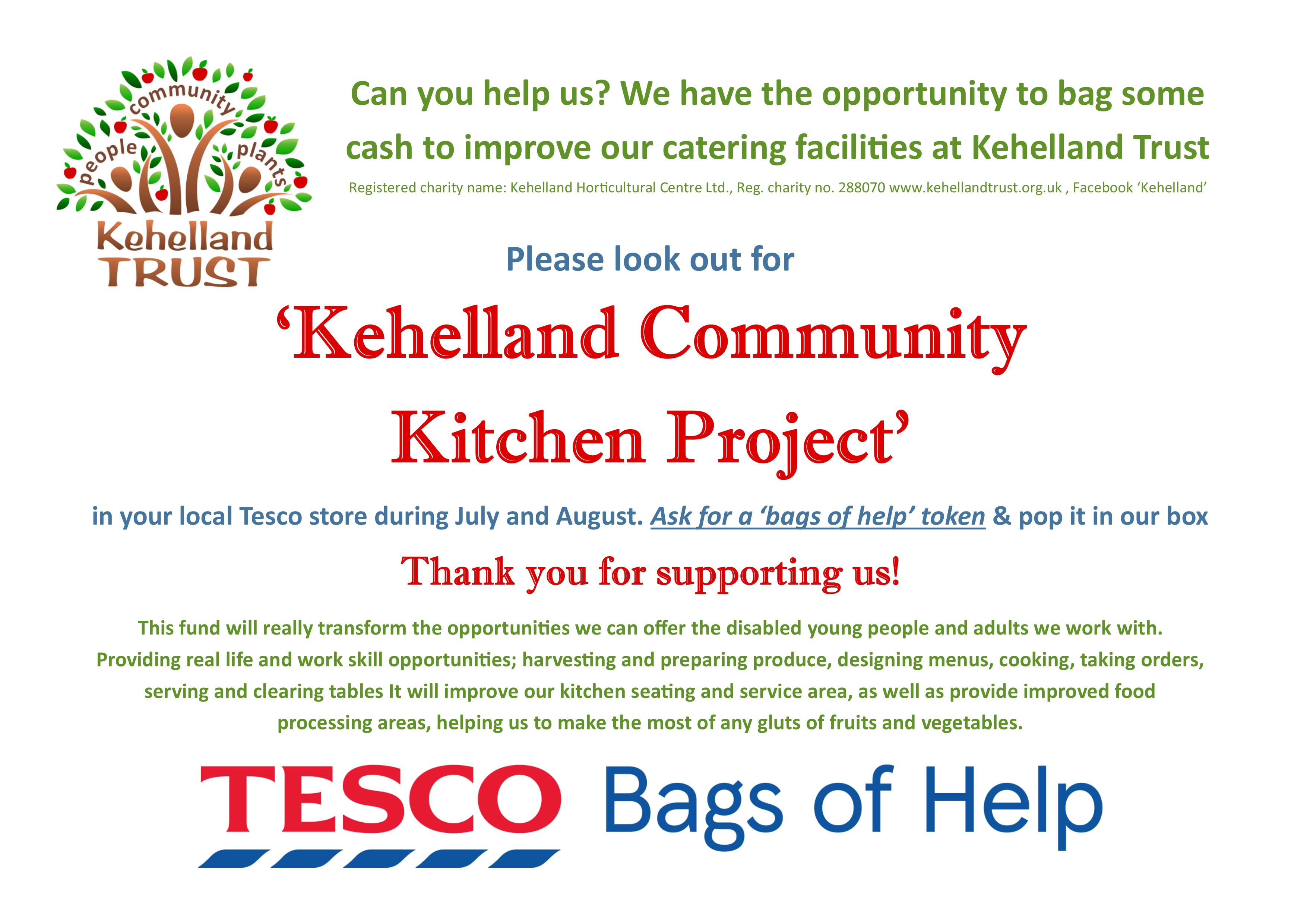 Community every little will help kehelland in july august at community every little will help kehelland in july august at camborne tesco negle Image collections