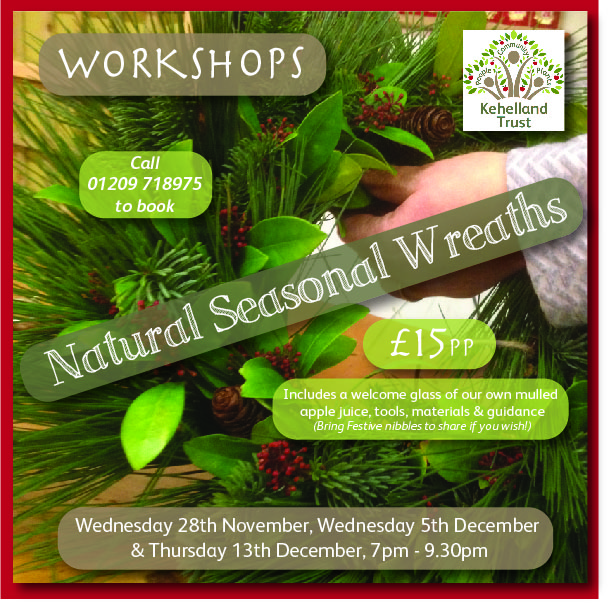 COMMUNITY: Natural Wreath Making Workshops